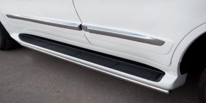 Lexus LX 570 2012 Пороги труба d42 LLXТ-000866